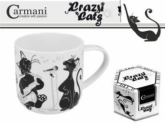Kubek porcelanowy koty 500ml Crazy Cats Carmani