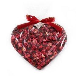 Serce Maxi z ciemnej czekolady 60% z żurawiną