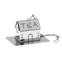 Zaparzacz stalowy domek z podstawką TEA HOUSE