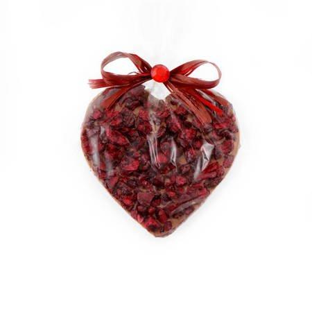 Serce z mlecznej czekolady z wiśnią 50g Cortez