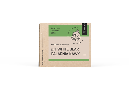 The White Bear Kolumbia Excelso 250g ziarnista