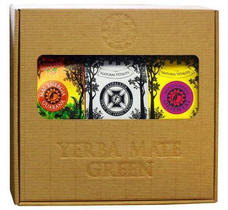 Zestaw Yerba Mate Green 3 x 200g w pudełku